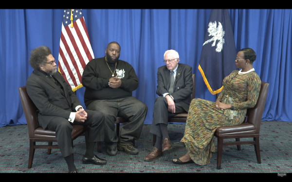 Bernie Sanders discusses MLK, Jr. with Dr. Cornel West, Nina Turner, and Killer Mike